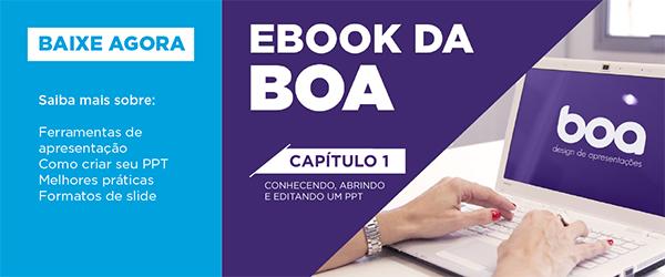 Capa do e-book: conhecendo, abrindo e editando um ppt