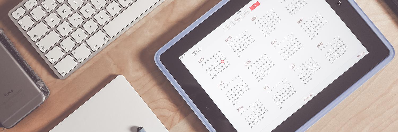 calendário ipad
